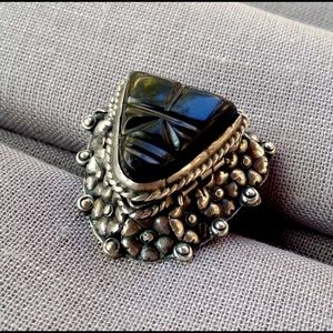 Vintage Taxco Silver Poison Ring